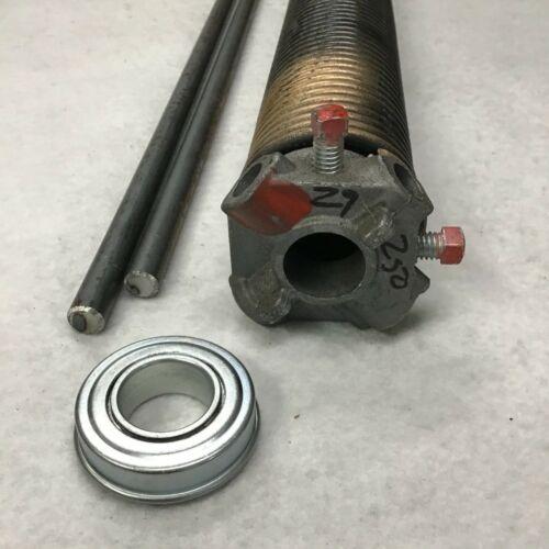 "250 x 2/"" x 29/"" Right Torsion Spring Garage Door w// Steel Bearing /& 2 Winding Bar"