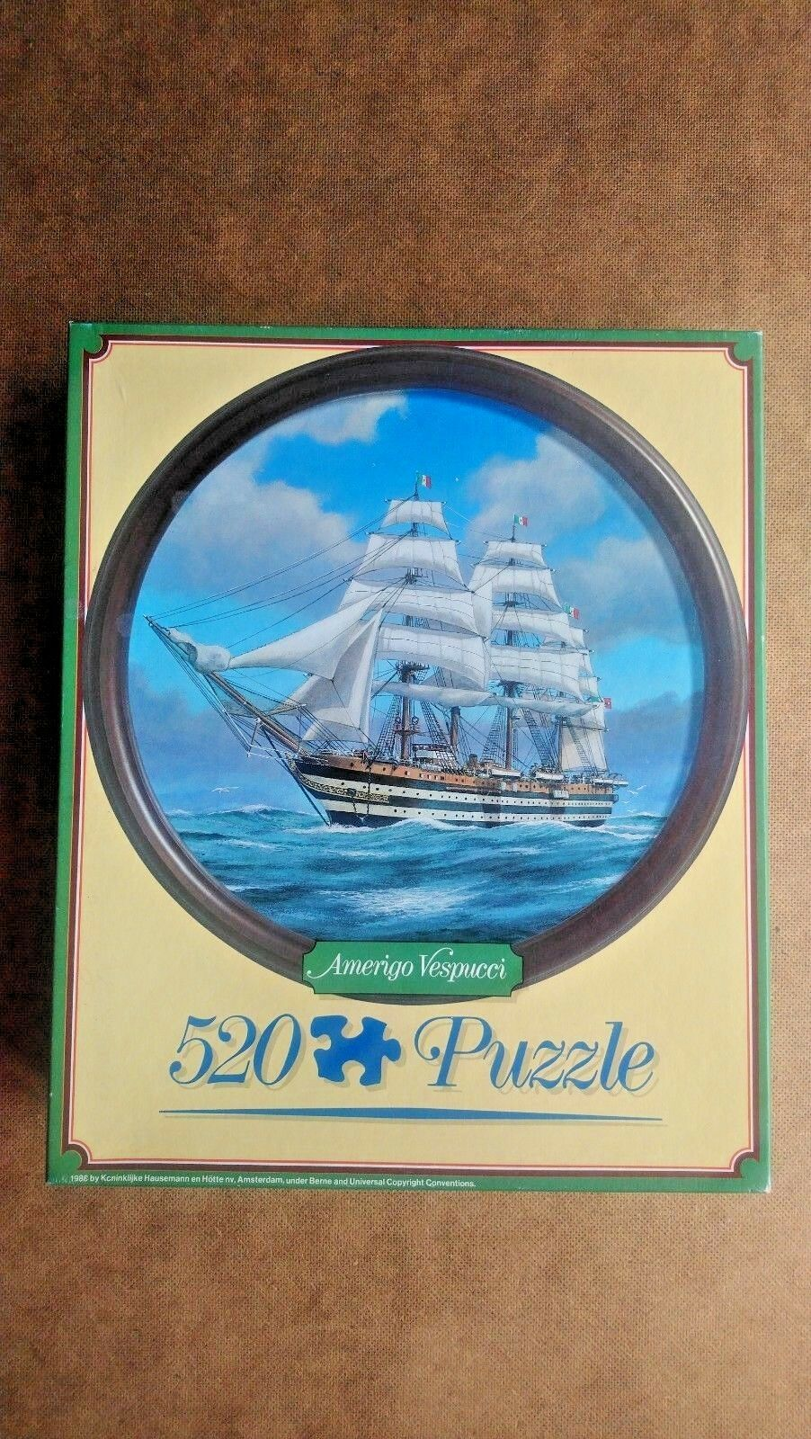 Amerigo Vespucci 520 Piece Circular Jigsaw by Jumbo 1986