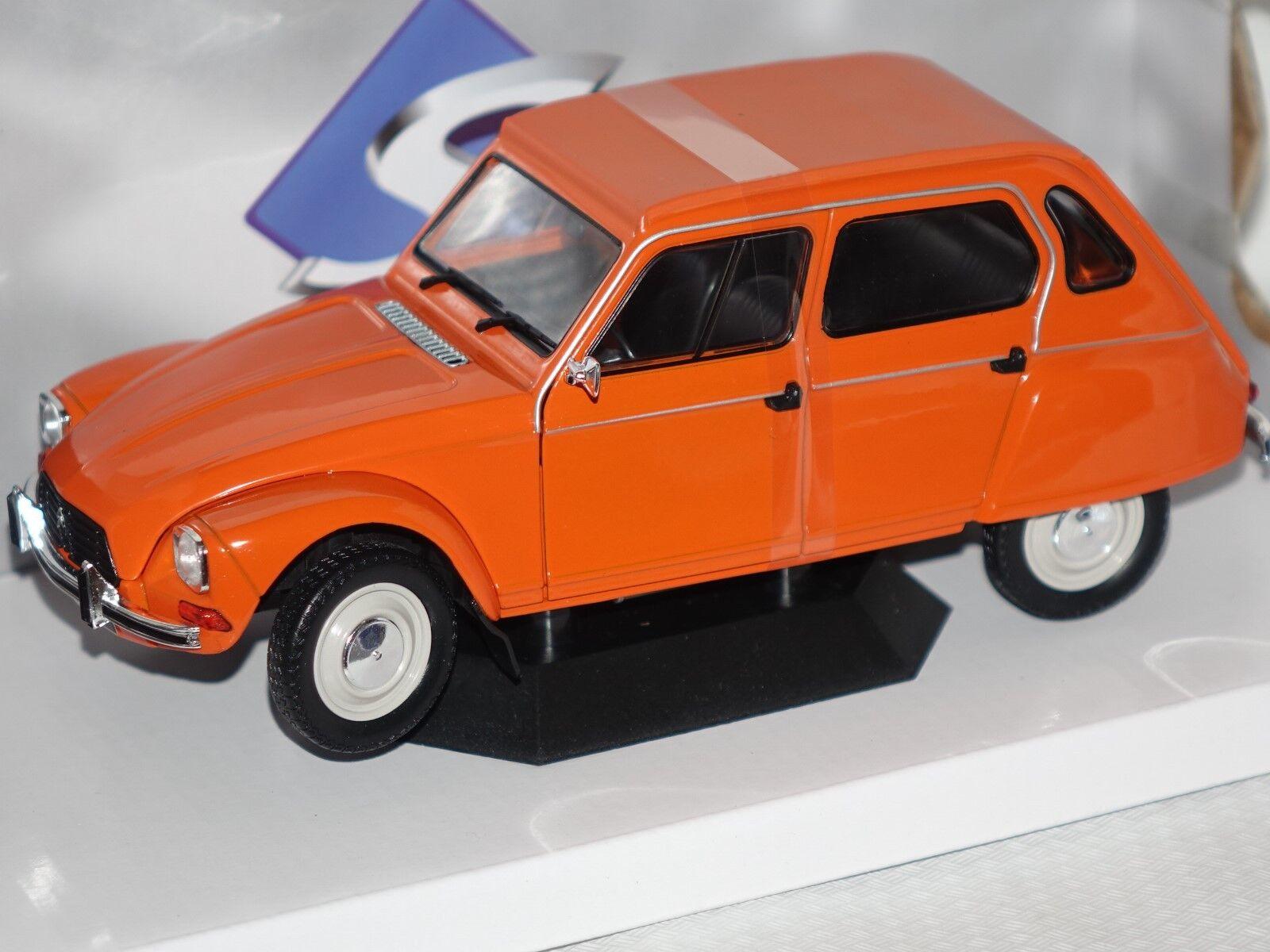 CITROEN DYANE 6 1967 Orange 1 18 Solido 1800304 NOUVEAU & NEUF dans sa boîte