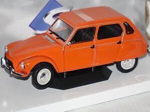 CITROEN-DYANE-6-1967-orange-1-18-Solido-1800304-NOUVEAU-amp-NEUF-dans-sa-boite