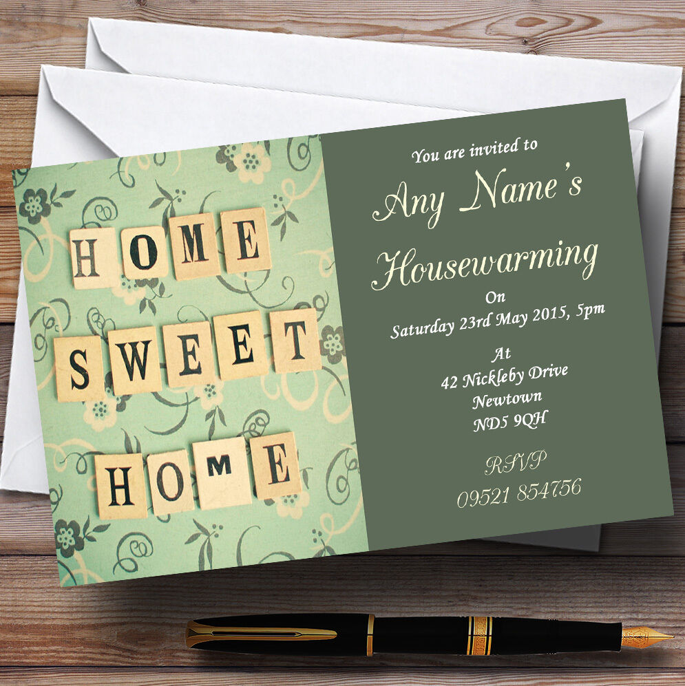 Home Party Sweet Housewarming Personalised Invitations 5de360