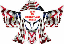 SKI DOO SNOWMOBILE WRAP REV,XP, XR,XS,XM MXZ  99-16 AMERICAN FLAG DECAL STICKER
