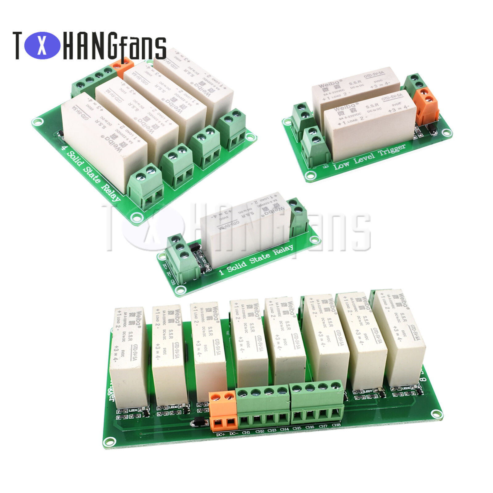 1/2/4/8 Channel SSR Solid State Relay Low Trigger 5A 0-2V DC-DC for Arduino ATF
