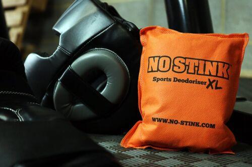 No Stink Deodoriser XL ORANGE Sports Bag Head Guards