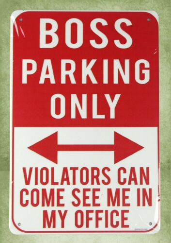 cave bar plaque boss parking only tin metal sign US SELLER