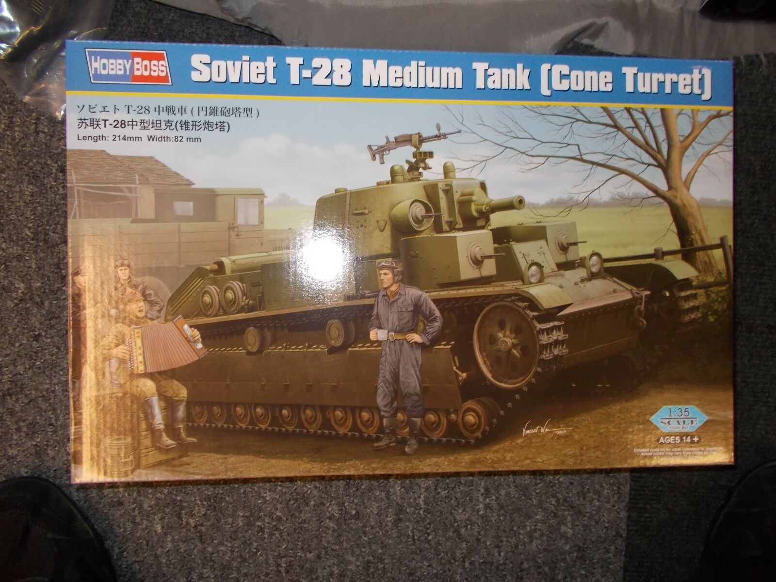 HOBBY BOSS T-28 MEDIUM TANK   CONE TURRET