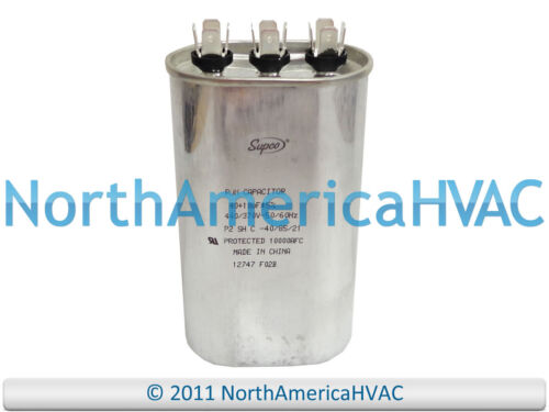 CD40+10X370 NEW Supco Oval Motor Dual Capacitor 40+10 uf MFD 370 440 VAC Volt