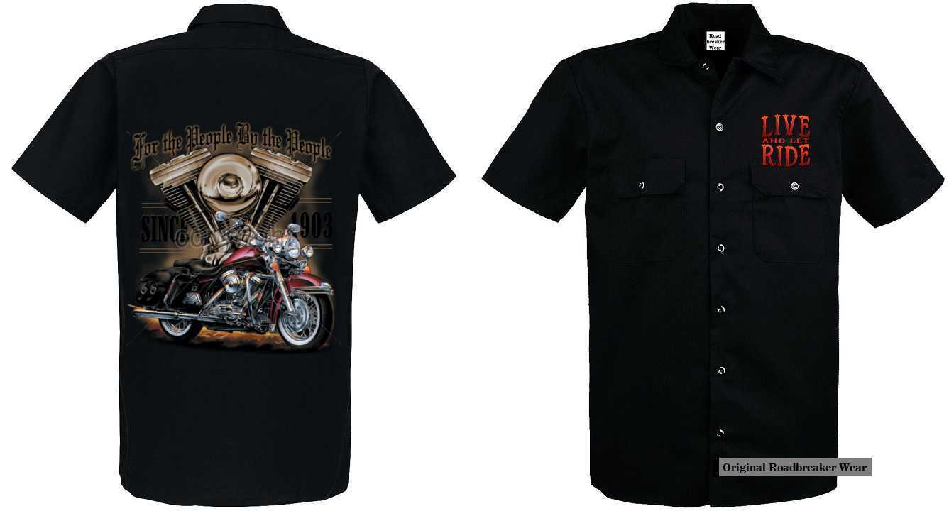 Worker Shirt Vintage-,HD-, Biker -,Chopper-& OldSchoolmotiv Modell For The
