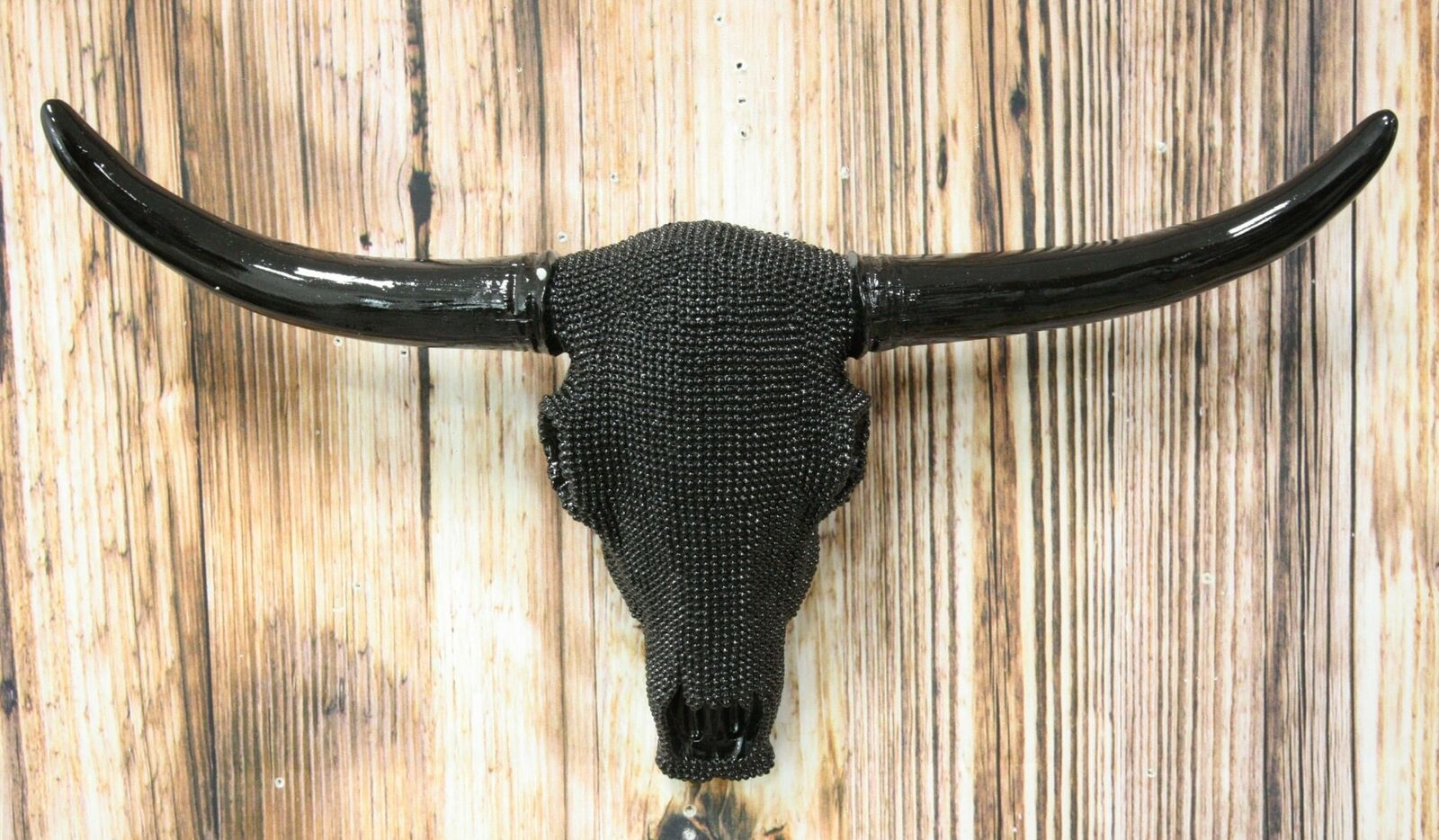 Resin Paisley Longhorn Skull Wall Mounted Cow Head Decor Hanging Antler Horn Art