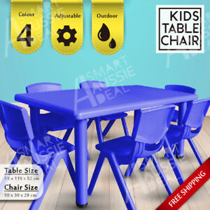 Terrific Details About Melbourne Stock Popular Kids Table Chairs Play Outdoor Eco Friendly Plastic Safe Home Interior And Landscaping Eliaenasavecom