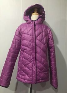 296d0a08dc59 Columbia Pink Quilted Light Weight Girls Hooded Jacket Puffer Sz.m ...