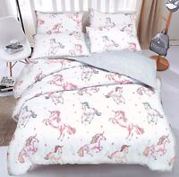 Unicorn Quilt Duvet Cover & Pillowcase Bed Set Single Double & King by Pieridae