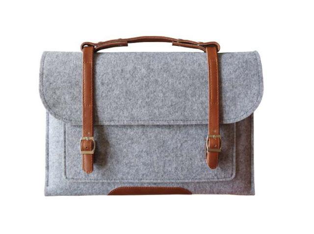 "Woolen Felt Laptop Sleeve Case PC Carry Bag Cover For 11""13""15"" Macbook Air Pro"