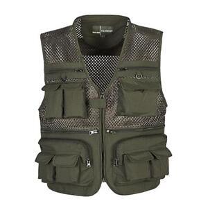 Multi-Pockets Cotton Outdoor Photography Mesh Vest Hunting Fishing Waistcoat