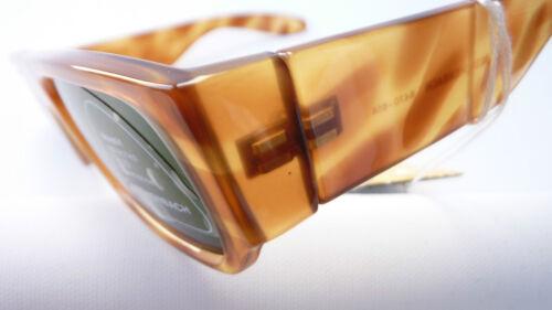 Eschenbach Sonnenbrille breite Bügel braun Hornoptik rechteckig Glas schmal Gr:L