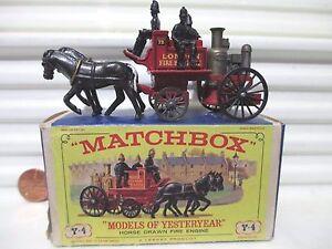 Lesney-Matchbox-Yesteryear-1963-Y4-SHANDMASON-LONDON-Fire-Engine-BLK-2LineLocker