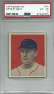1949-Bowman-baseball-card-44-Dave-Philley-Chicago-White-Sox-graded-PSA-4