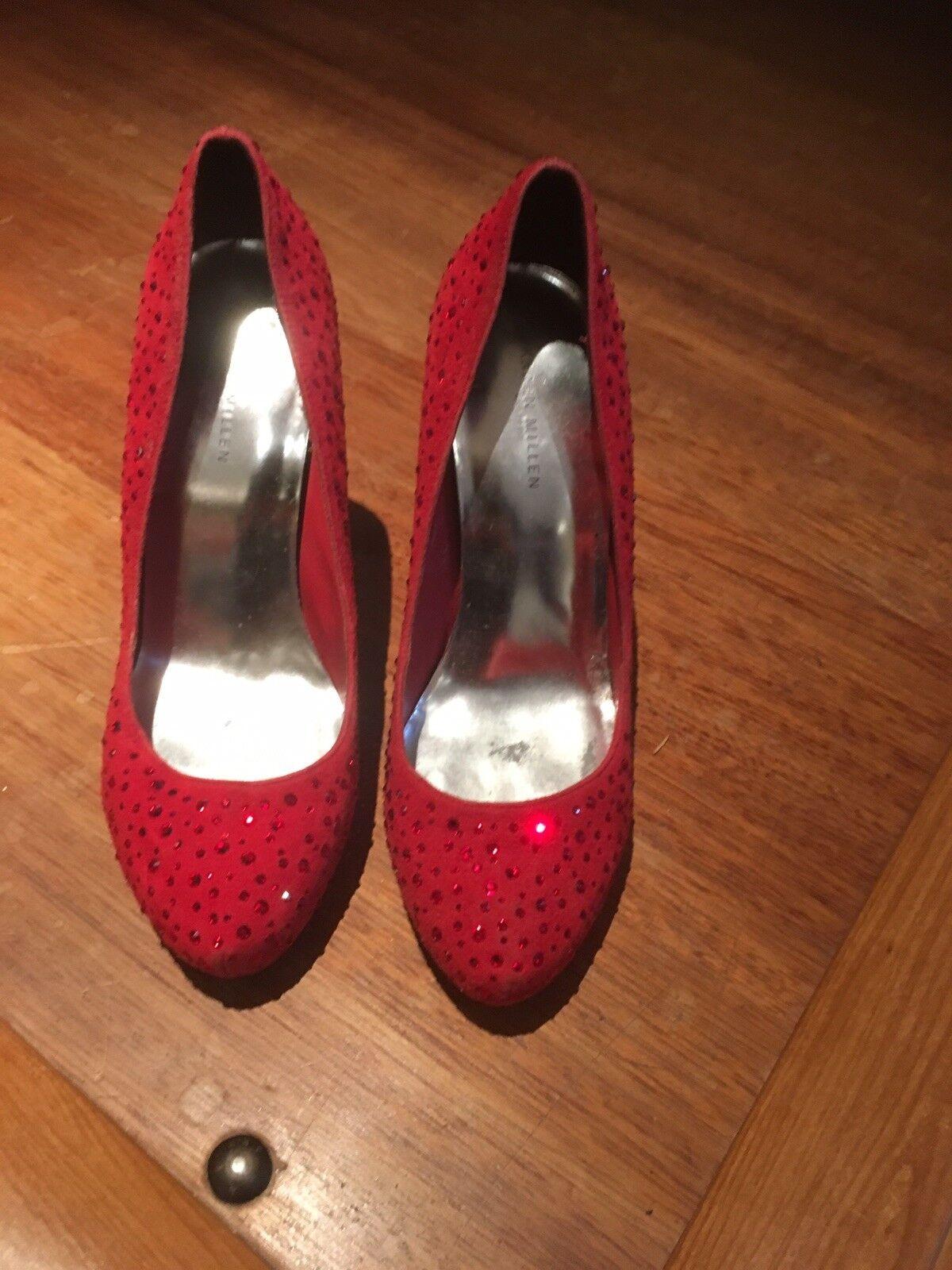 Karen Millen Red Swarovski Crystal Dgoldthy Wizard Of Oz shoes Size 4