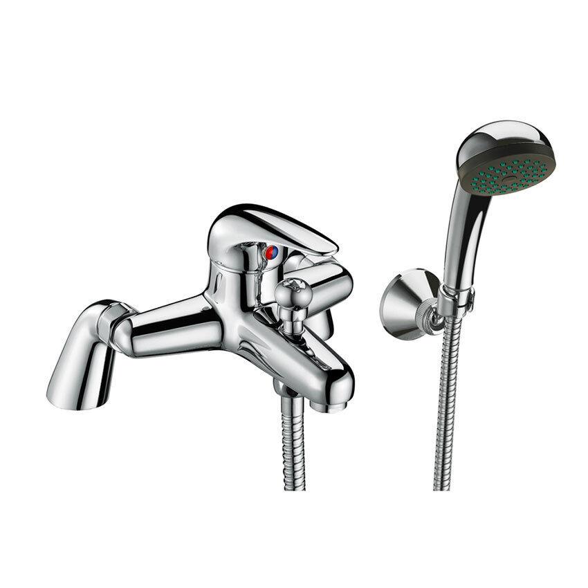 Leva singola moderno cromato ottone ottone ottone massiccio rubinetto lavabo miscelatore doccia Borsano e set * e 2ca8b7