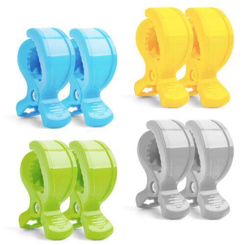 8 Stücke Klammer-Clips zur Abdeckungen Decken oder Spielzeug an Kinderwagen