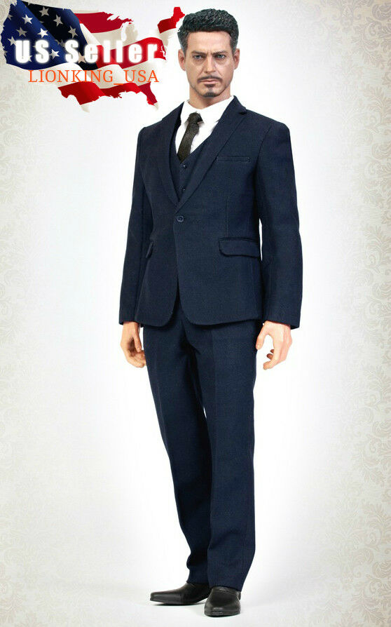 1 6 Men Business Suit Set DARK blueE For 12  Hot Toys PHICEN Male Figure ❶USA❶