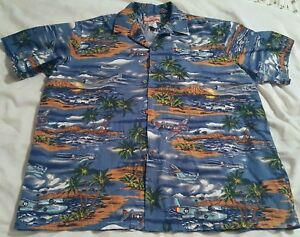 8e1cade7 Image is loading RJC-Mens-2XL-Hawaiian-Shirt-Fighter-Bomber-Airplanes-