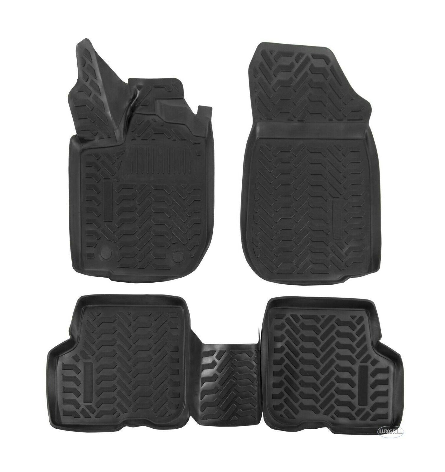 Gummimatten Gummifußmatten TPE 3D für Dacia Duster 2WD PH 2 ab 2014-2017