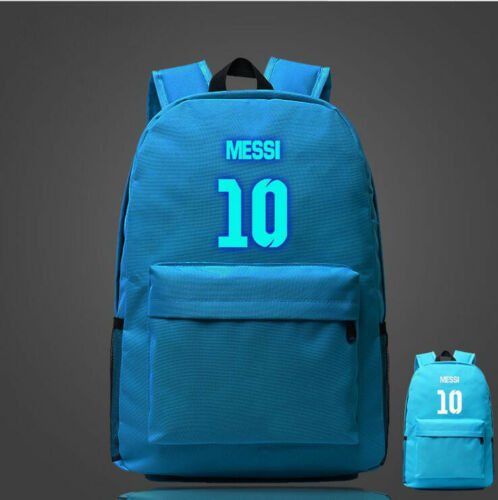 Luminous Lionel Messi Logo Barcelona 10 Backpack Christmas  School Bag Fashion