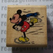 Disney Mousecapades Mickey Skating Stamp Rubber Stampede A228C