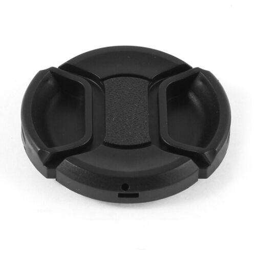 1X Universal 46mm Tapa de lente frontal de pellizco de centro para DSLRCamara YU