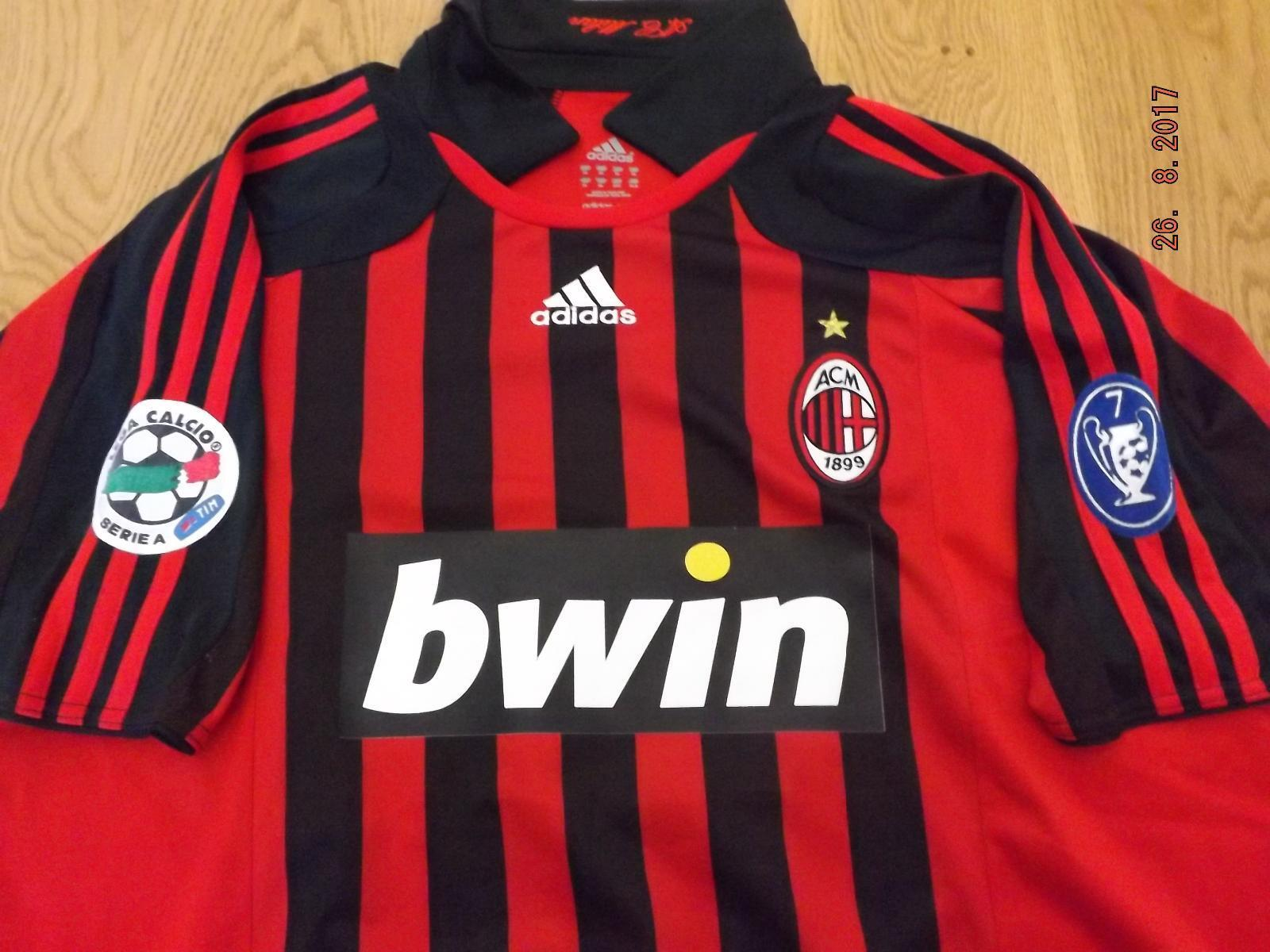 EMERSON MILAN 200708 MAGLIA SHIRT WORN ISSUED MATCH ADIDAS KAKA SHEVCHENKO
