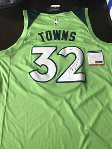 acb415f8ecb inexpensive image is loading karl anthony towns signed autographed  minnesota timberwolves jersey df02e 85477