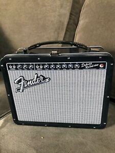 Classic Fender Lunch Box Metal pail that looks like a guitar amplifier