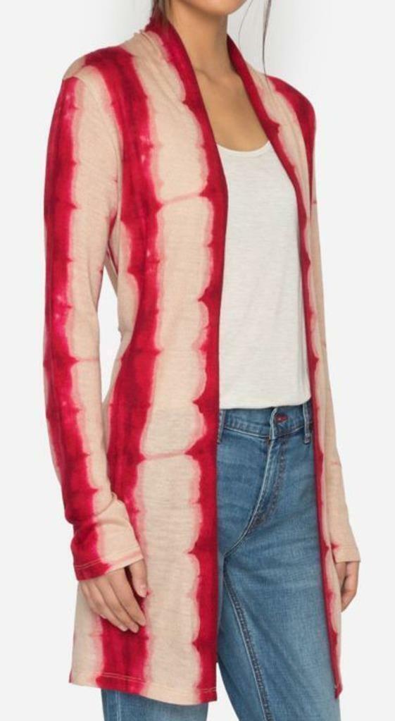 New with Tag -  JOHNNY WAS Calme Tie Dye Shibori Silk Blend Duster Size S