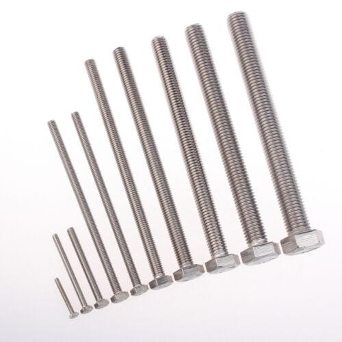 1Pcs M10X140mm Standardized 304 Stainless Steel Screw Bolt w External Hex Head