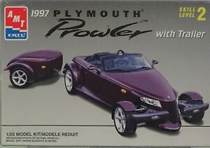 PLYMOUTH-PROWLER-With-Trailer-AMT-ERTL-1997-1-25-Scale-Plastic-Model-Kit-1997