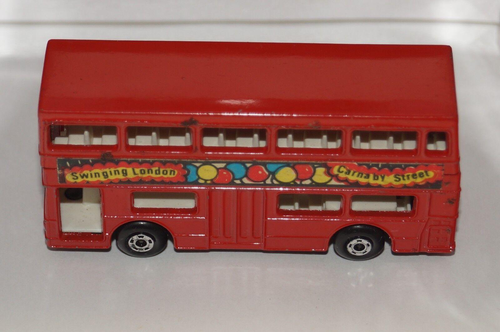 ORIGINAL Matchbox Superfast - The Londoner - - - No 17 - Red color - Swinging London aea615