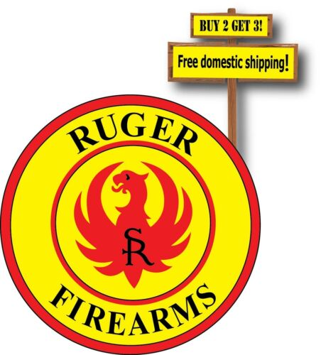 Decals & Stickers Automotive Ruger Yellow and Red Printed Sticker ...