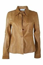 *PRADA* DISTRESSED BROWN LEATHER JACKET (44)