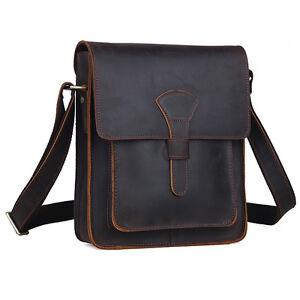 Men/'s Leather Messenger Shoulder Bag Handbag iPad Briefcase Crossbody SatchelBag