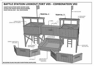 Cubby House Fort Sand Pit Combo V2 Build With Your