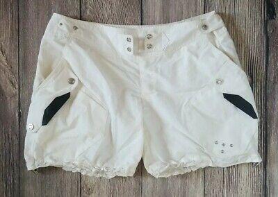 Ralph Lauren Black Label Women's Shorts Size 8 White Rl Logo Cotton/nylon Shorts