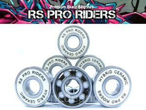 PREMIUM-HYBRID-CERAMIC-BEARINGS-608-RS-SKATEBOARD-SCOOTER-INLINE-ROLLER-SKATE