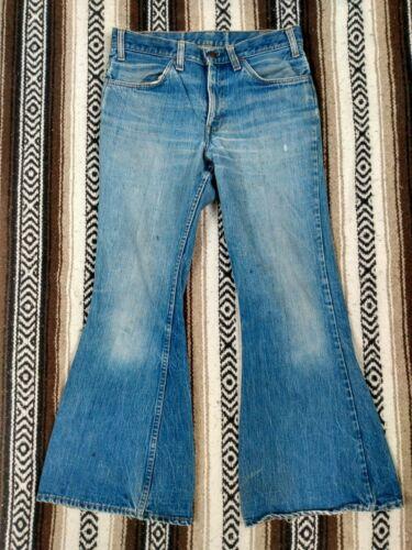 Levi's vtg Bell Bottoms Jeans 60s 70s Orange Tab f