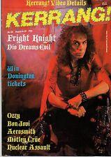 Ronnie James Dio on Kerrang No: 152 Cover 1987      Aerosmith      Michael White