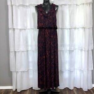 Large-NWT-LOFT-Floral-Print-Maxi-Dress