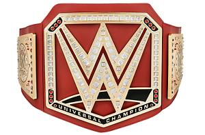WWE RED UNIVERSAL CHAMPIONSHIP HEAVYWEIGHT TOY TITLE BELT WRESTLING MATTEL RAW