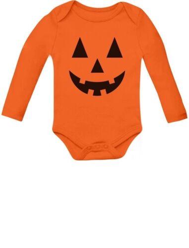 Cute Little Pumpkin Halloween Infant Jack O/' Lantern Baby Long Sleeve Bodysuit