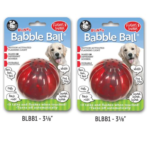 Flashes /& Talks When Touched! Pet Qwerks Blinky Babble Ball Interactive Dog Toy