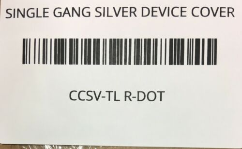 CCSV-TL RED DOT SINGLE GANG SILVER DEVICE COVER W//GASKETS//SCREWS 1.59-INCHES DIA